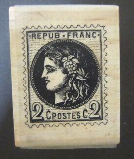ユースド ハンドメイドのデコレーションに 超激得SALE ゴム印 ハンコ フランスの切手 低価格化 ラバースタンプ