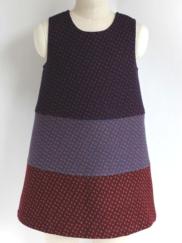 Quelle Tre クエッレ・トレ 3カラードレス 《ウールジャガード 115cm》