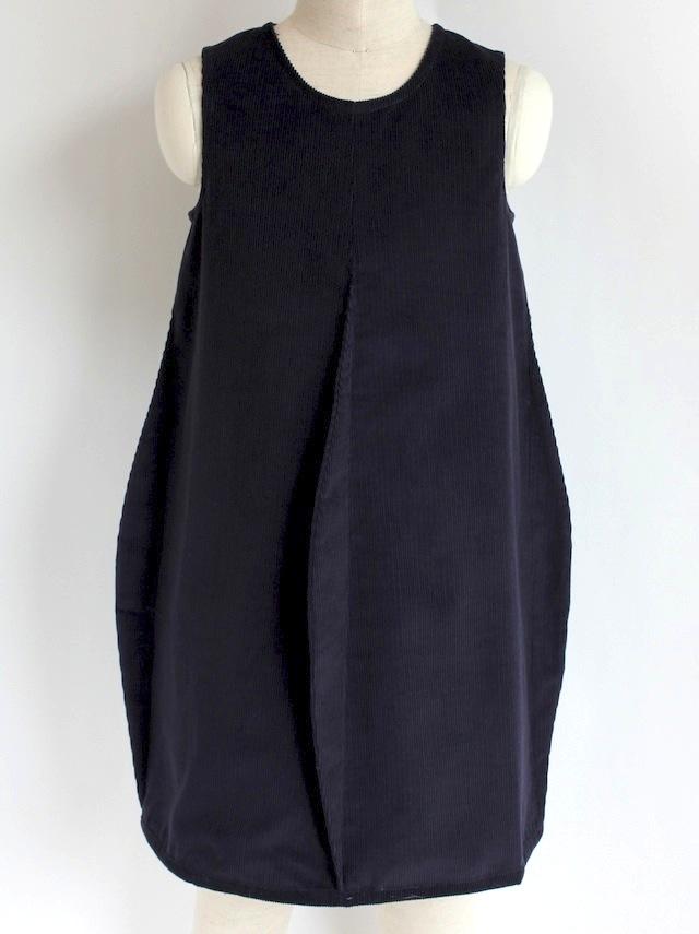 Quelle Tre クエッレ・トレコーデュロイ 4タックドレス《ネイビー 115cm、125cm》