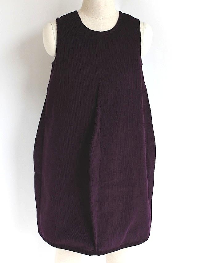 Quelle Tre クエッレ・トレコーデュロイ 4タックドレス《パープル 135cm》