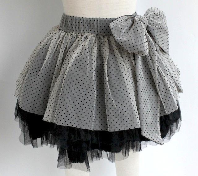 detta dada デッタ・ダダチュールレース ピンドットスカート《アイボリー x ブラック》