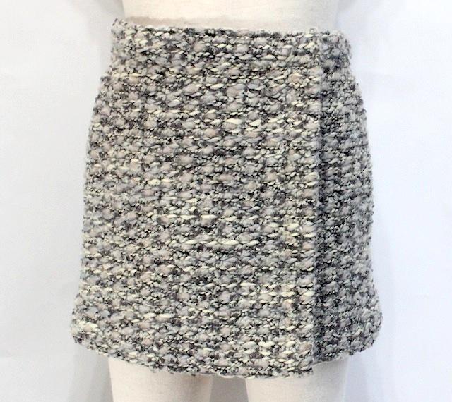 Le petit coco ル・プティ・ココツイード ラップスカート《グレー系》