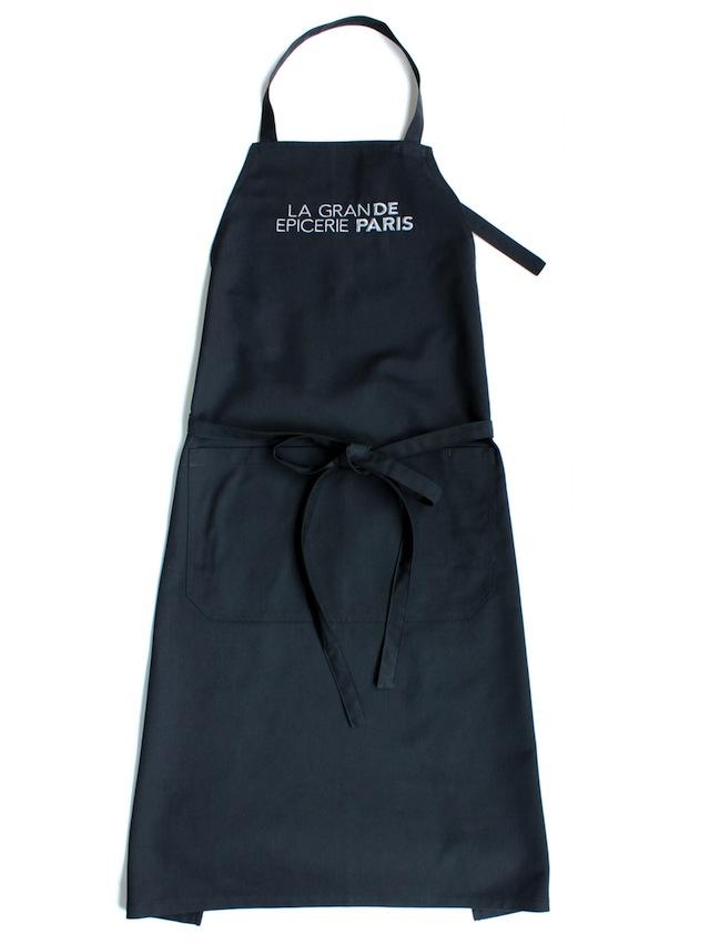 ボンマルシェ(Le Bon Marche) ロゴ刺繍エプロン《ブラック》