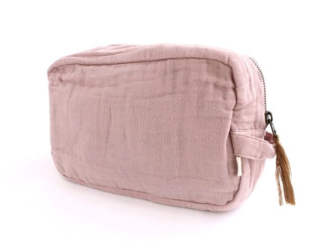 Numero 74二重織りガーゼ ポーチ Lサイズ《Dusty Pink》