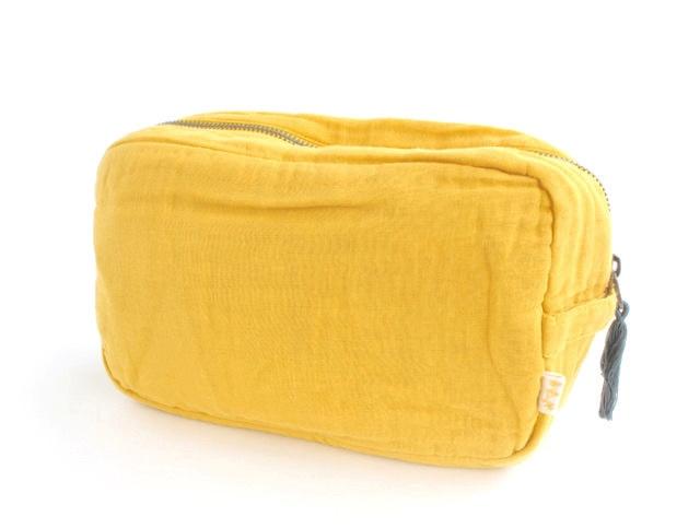 Numero 74二重織りガーゼ ポーチ Lサイズ《Yellow》