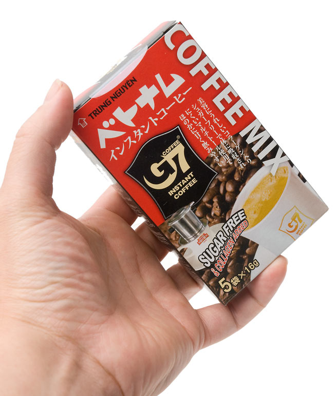 G7 越南速溶咖啡 (与无糖胶原) 16 g x 5 件民族亚洲印度食物食物材料越南食品费。