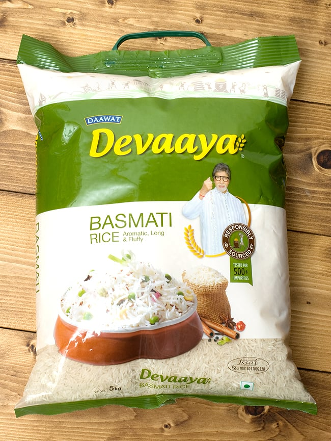 印度香米大米 5 公斤吗? Devaaya 香米民族的亚洲印度食物食物的印度料理巴基斯坦阿米塔布香料咖喱