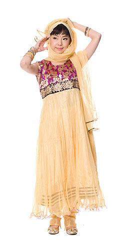 【送料無料】 パンジャビ ドレス3点セット ピンク / インド パンジャビドレス パンジャービードレス サルワール カミーズ 民族衣装 レディース エスニック衣料 アジアンファッション エスニックファッション