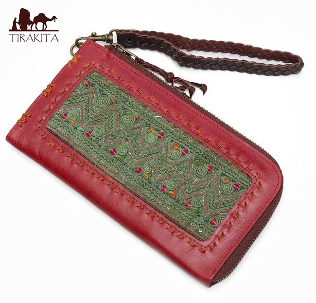 高品質・一品物 モン族 牛革の大きなカードケース / 財布 ウォレット 送料無料 あす楽