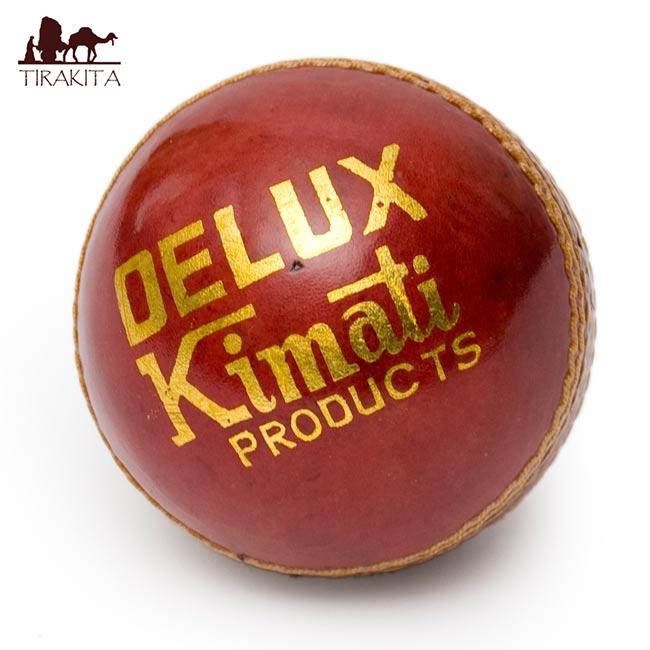 革張りでカッコイイ クリケットボール Delax Kimati スポーツ セールSALE%OFF アジア 雑貨 インド エスニック クリケット用品 超目玉