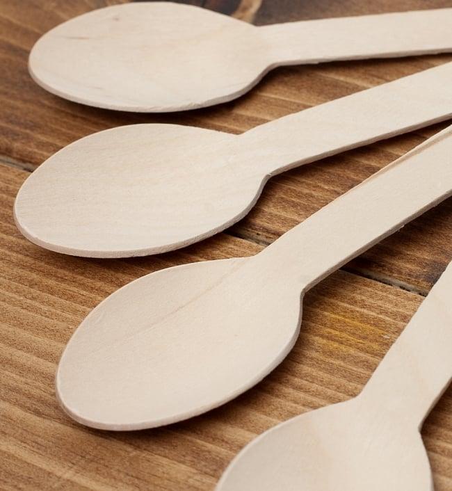 木製エコ・スプーン 16cm 100本セット / フォーク 食器 使い捨て レビューでタイカレープレゼント あす楽