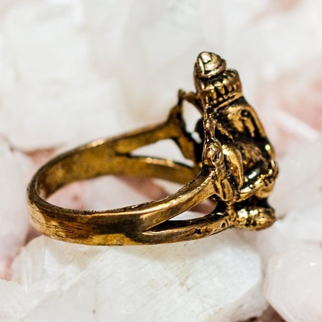ガネーシャのゴールドリング / 指輪 アクセサリー 金色 あす楽