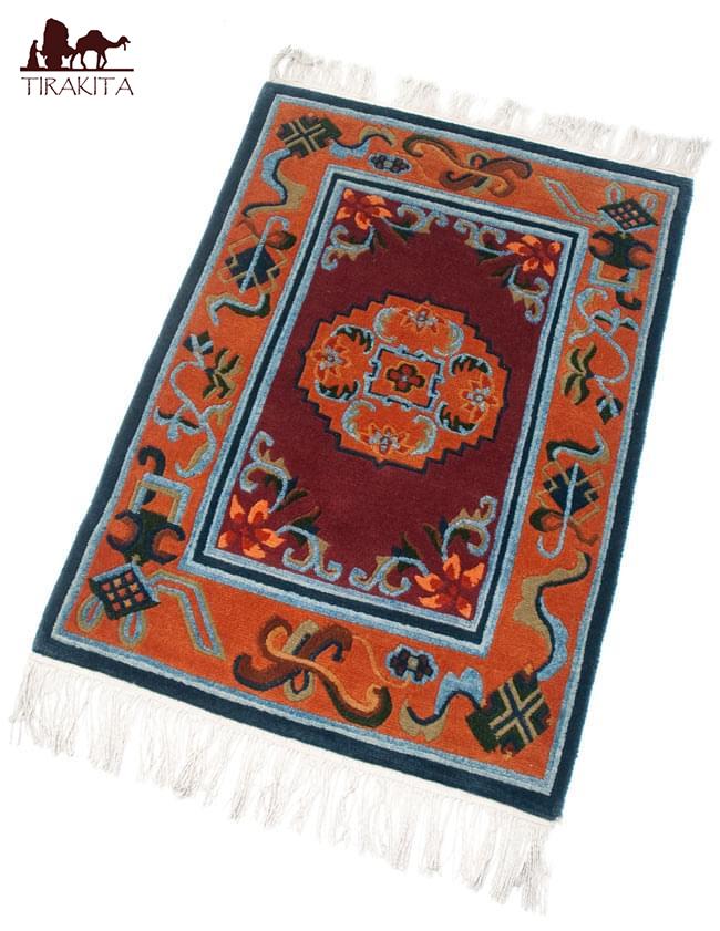 【高密度】手織りのチベット絨毯【約60cm×約90cm】 / ラグ マット 送料無料 レビューでタイカレープレゼント あす楽