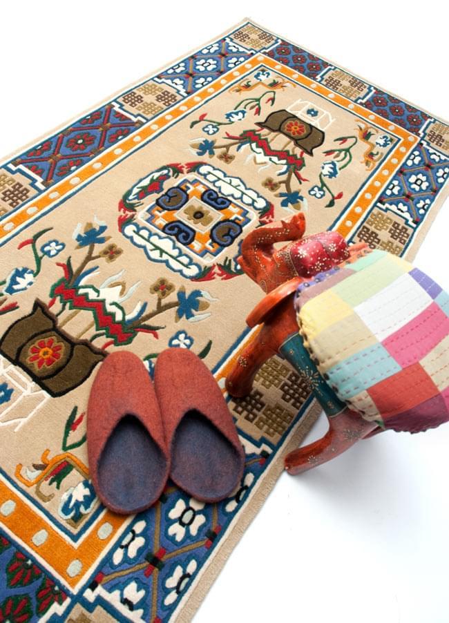 Tirakita Handwoven Tibet Carpet Rug Nepal Handicraft