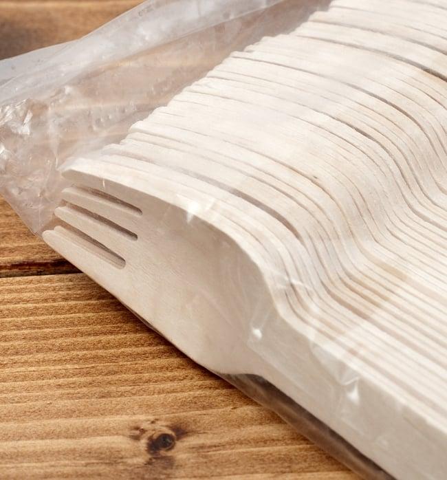 木製エコ・フォーク 16cm 100本セット / スプーン 食器 使い捨て レビューでタイカレープレゼント あす楽