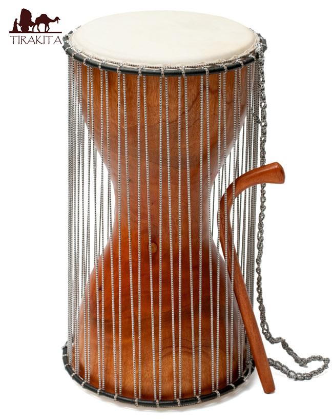 木製トーキングドラム プレーン / 西アフリカ 太鼓 打楽器 送料無料 レビューでタイカレープレゼント あす楽