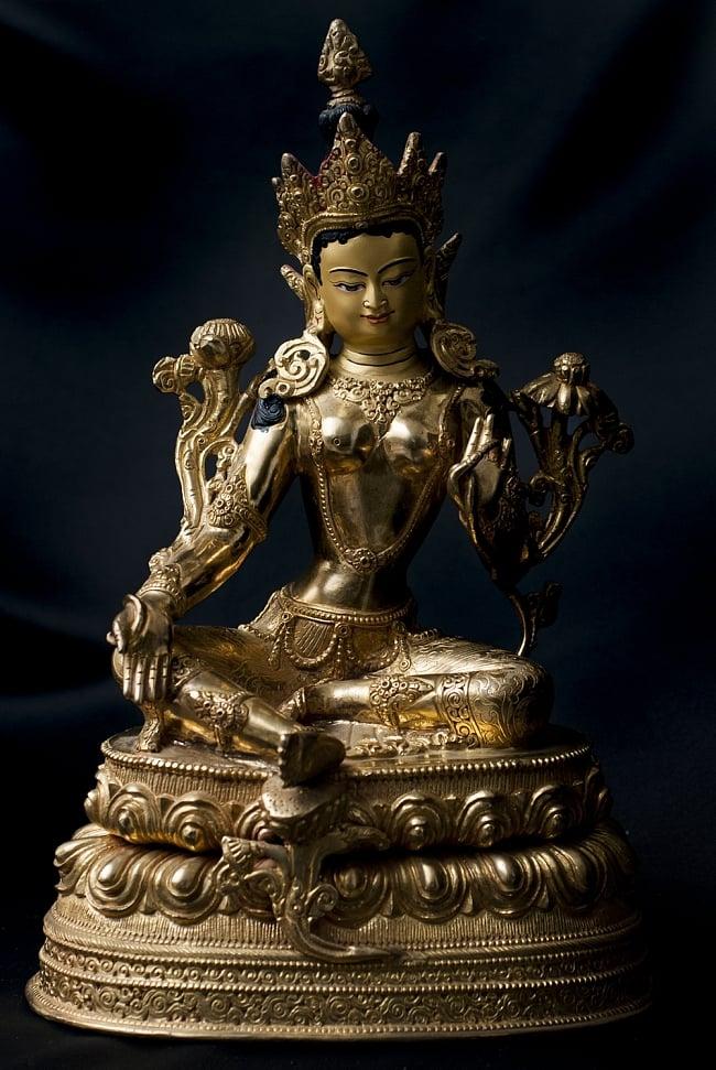 多羅菩薩(ターラー) 銅造鍍金仕上げ 33cm / 神像 仏像 送料無料 レビューでタイカレープレゼント あす楽