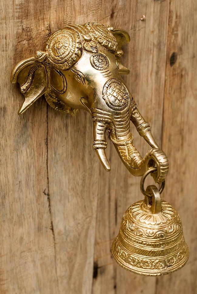 キャンペーンもお見逃しなく 送料無料 あす楽 ドアベル 特大インパクト 希少なドアベルです ゾウのドアベル 象 ブラス インド 製品 金属 期間限定お試し価格 エスニック 雑貨 アジアン アンティック
