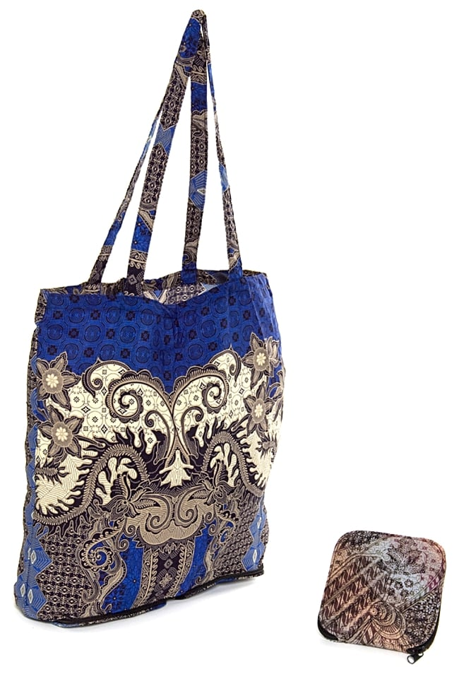 75064688f8 Foldable! Eco-bag folding Bali batik pattern Thoth shopping bag type Mai bag  India jute God porch ethnic Asia of the batik cloth