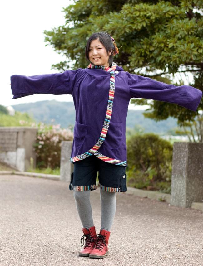 尼泊尔织布的kodeyuroihafupantsu| 女性裤子微型小说裤子亚洲竹荚鱼安女士族群衣料服时装印度
