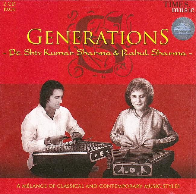 メール便OK あす楽 cd サントゥールで知られるシャルマ親子の2枚組 古典と現代的なメロディを同時に楽しめます 最安値に挑戦 Generations CD インド音楽 Music Times 民族音楽 民族楽器 お買得 シャントゥール