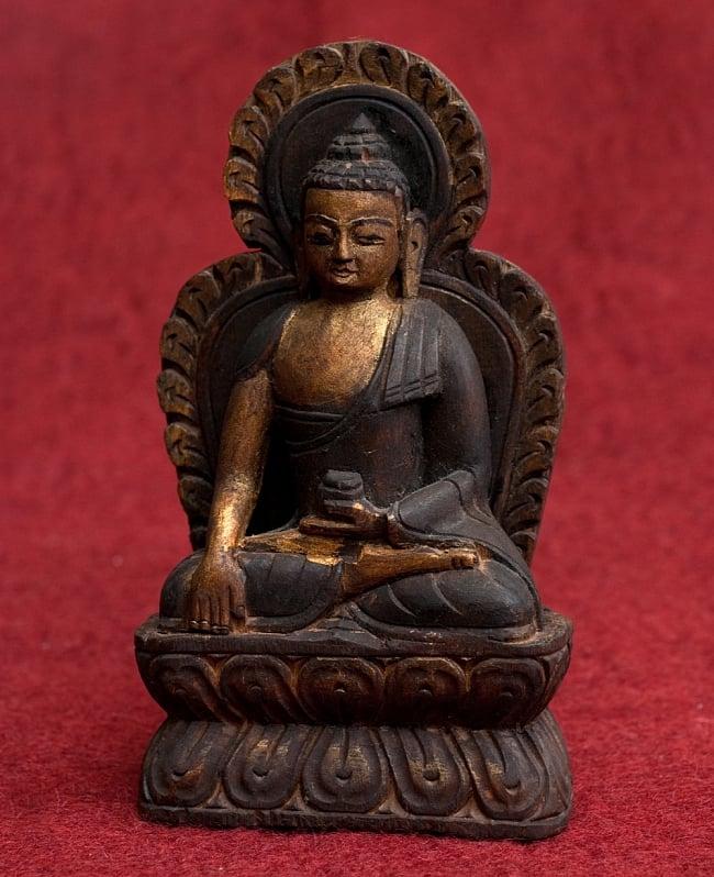 一点もの 木彫りの仏陀(ブッダ) 18cm / アンティック 送料無料 レビューでタイカレープレゼント あす楽