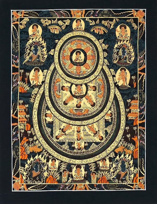 タンカ -種子マンダラ 縦横39x30 / 曼荼羅 手描きのタンカ 送料無料 レビューでタイカレープレゼント あす楽