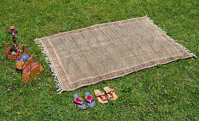 インドのラグ ジュート・ダリー 【約120cm x 195cm】 / Dhurrie 送料無料 レビューでタイカレープレゼント あす楽