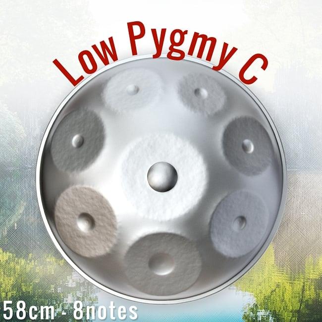 ハンドパン Low Pygmy C【58cm 8notes】 -ソフトケース付属 / スチールパン 打楽器 パーカッション 送料無料 レビューでタイカレープレゼント あす楽