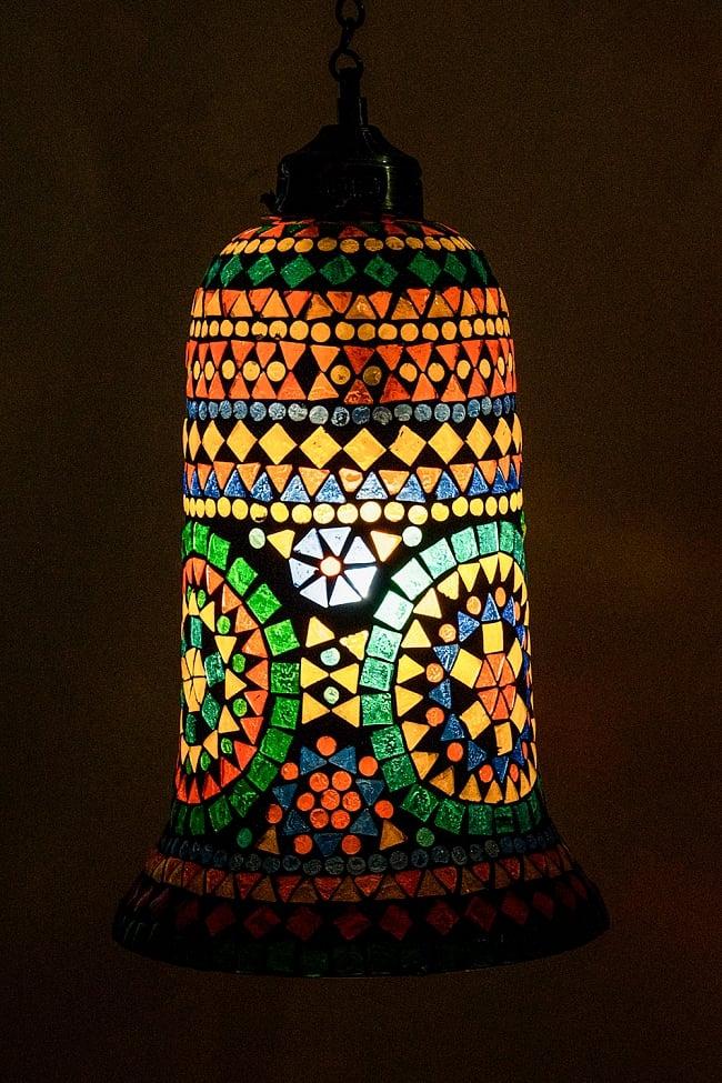 吊り下げモザイクランプ 直径17cm / アラビア風ランプ インテリア 送料無料 レビューでタイカレープレゼント あす楽