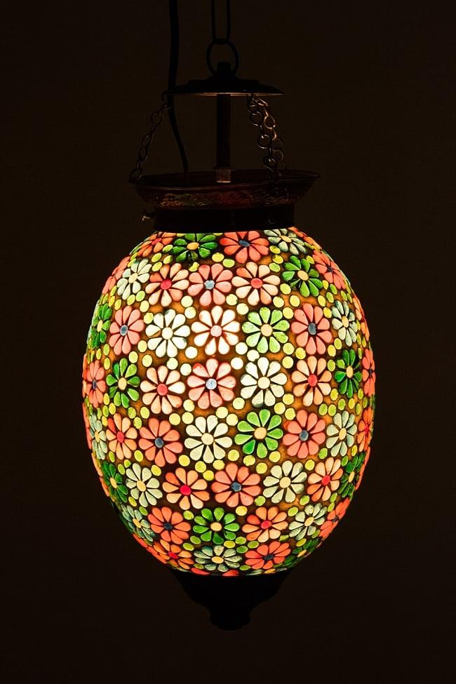 吊り下げモザイクランプ 直径18cm程度 / アラビア風ランプ インテリア 送料無料 レビューでタイカレープレゼント あす楽