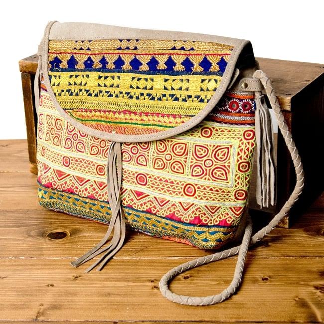【一点物】アフガニショルダーバッグ-Lサイズ / アフガニバッグ 古布 送料無料 レビューでタイカレープレゼント あす楽