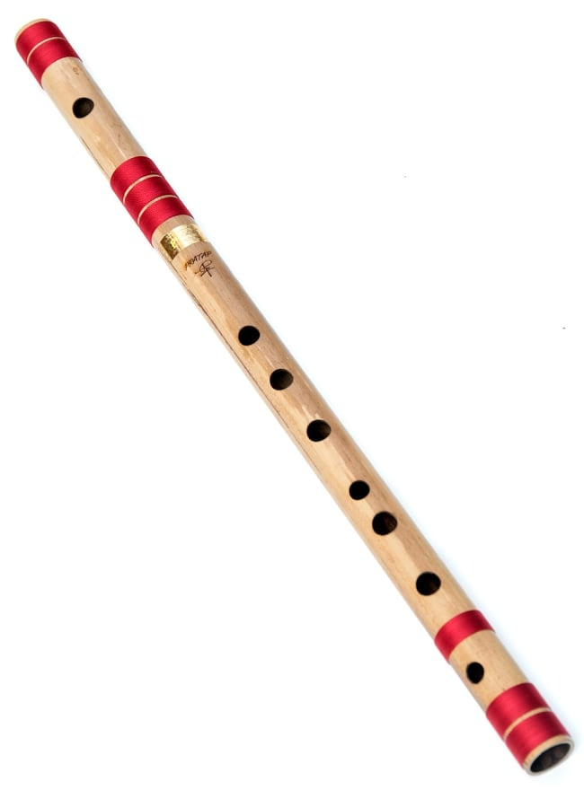 【送料無料】 高品質コンサート用バンスリ(C#管) / Bansli インド 管楽器 民族楽器 インド楽器 エスニック楽器 ヒーリング楽器
