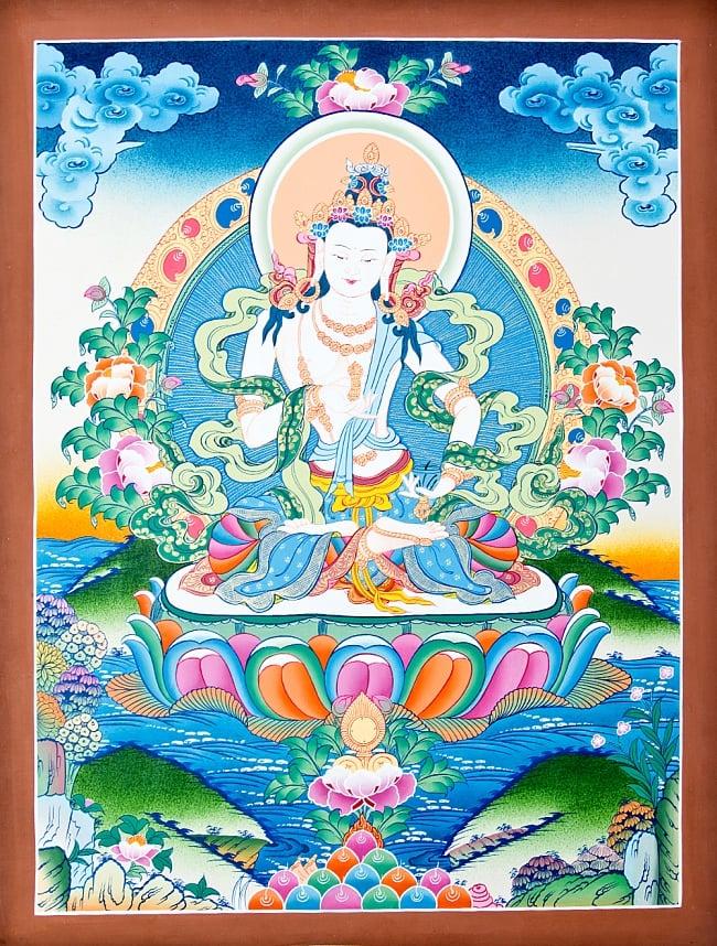タンカ - 金剛薩た 56.5x74 / マンダラ 曼荼羅 手描きのタンカ 送料無料 レビューでタイカレープレゼント あす楽