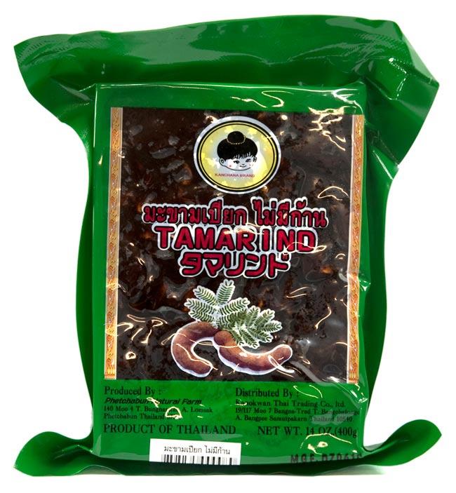 新着セール タマリンドペースト タマリンドの果肉のみをペースト状に加工したもの タイのタマリンド タマリンド 調理用 果肉のみ パック 400g エスニック食材 Phetchabun 未使用 Farm Natural インド料理の素 簡単 アジアン食品 便利