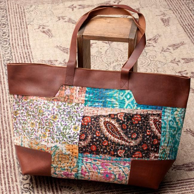 〔一点物〕伝統を紡いだ ラリーキルトのトラベルバッグ / カンタ刺繍 パッチワーク 送料無料 レビューでタイカレープレゼント あす楽