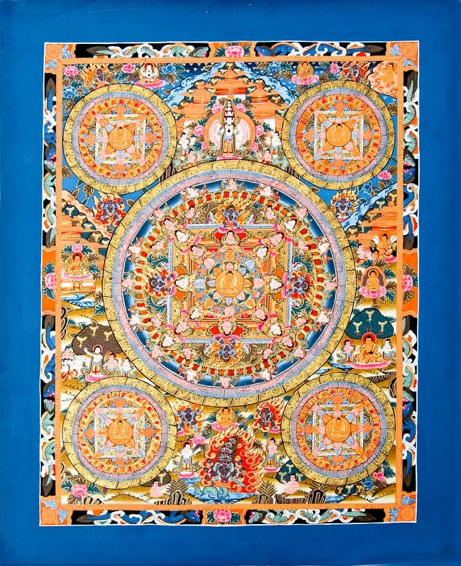 This tanka mandala Buddhist painting Indian printed matter sticker postcard  poster of the tanka 5 mandala 48 5x61 5 / mandala symbol mystery mantra