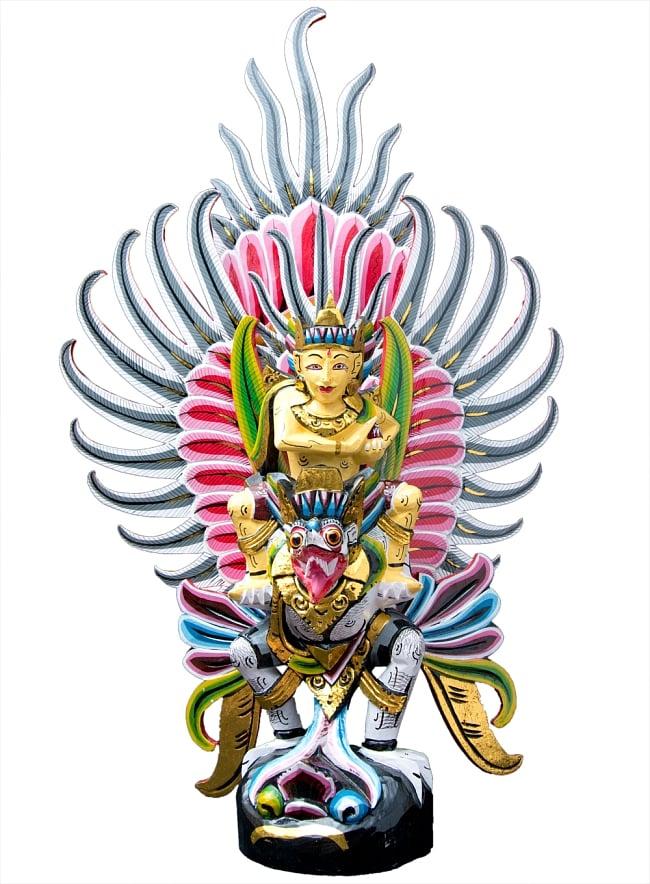 ガルーダ&ヴィシュヌ像 特大サイズ70cm / ガルーダ像 インドネシア 神話 送料無料 レビューでタイカレープレゼント あす楽