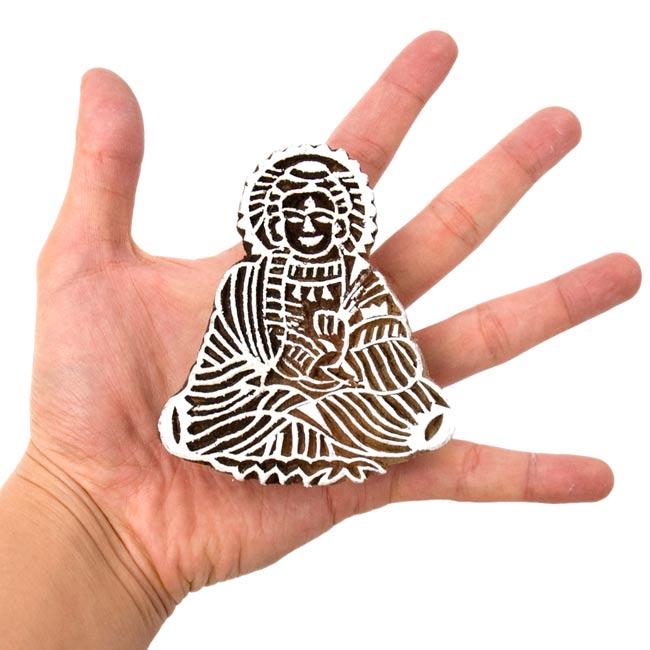 木材塊圖章9cm x 7.5cm木材圖章印度泰國巴厘日用品雜貨文具木版印刷族群亞洲