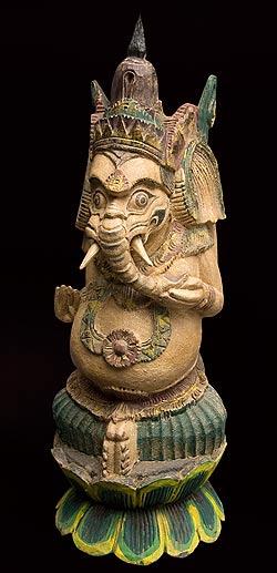 木製 ガネーシャ像 60cm / 神様像 仏像 置物 送料無料 あす楽