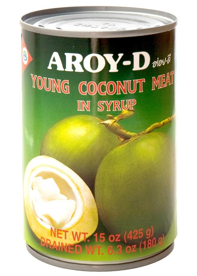 Coconut meat [400 ml] (AROY-D) coconut meat, coconut meat, canned