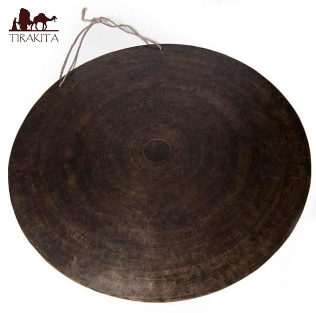 ブラスの銅鑼 59cm 4.6Kg / ドラ ネパール 打楽器 チベット 送料無料 あす楽