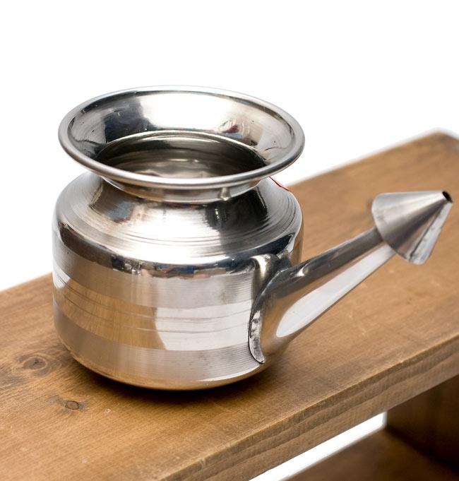 不锈钢洗鼻壶 (流鼻涕的鼻子渗透) 直径︰ 8.5 厘米高度︰ 8 厘米