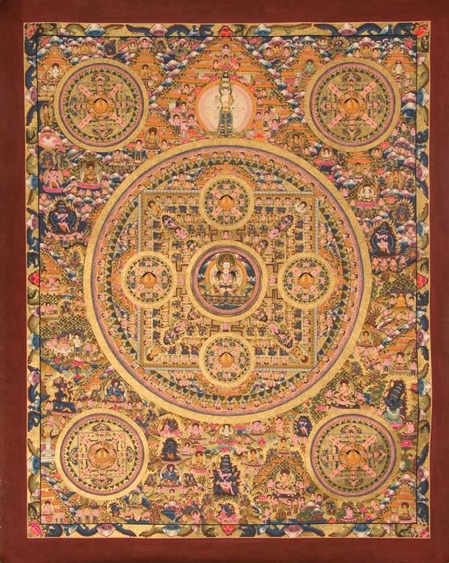 Tirakita 歌 中心 Mandalatanka 曼陀羅曼荼羅手繪唐卡 日本