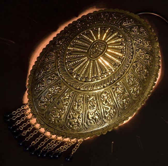 壁掛 卵型ハーレムランプ【33cm】 / アラビア風ランプ青色/濃い黄色 送料無料 あす楽