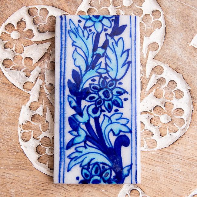 10 3 Cm X 5 Jaipur Blue Pottery Arabesque Decoration Tile Kitchen Asian Interior Ethnic India