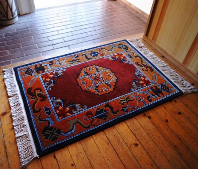 TIRAKITA: Hand-woven Tibetan Rugs Asian Interior Ethnic