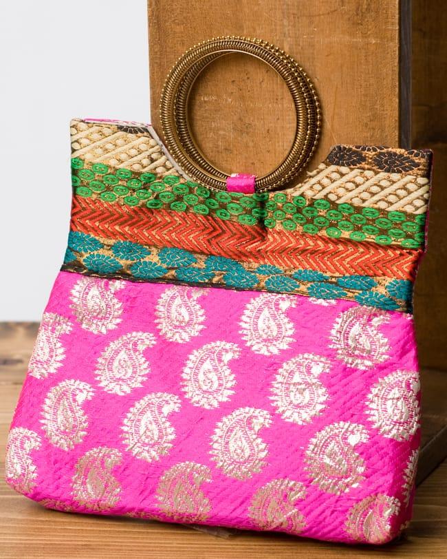 バッグ パンジャビドレス サリーやパンジャビドレスにぴったり パンジャビやサリーにぴったり インドのゴージャスハンドバッグ ペイズリー / 手提げ サリー クラッチバッグ アジアン レディース ポーチ エスニック
