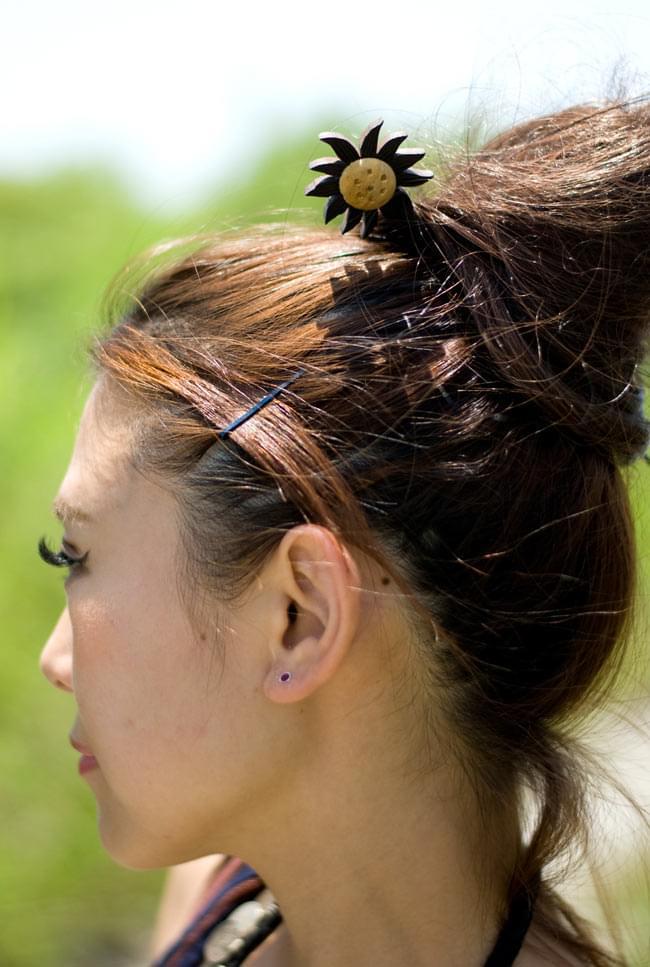 椰子的簪子-uma| 族群发夹簪子印度亚洲配饰脚镯无环耳环环瓶子D