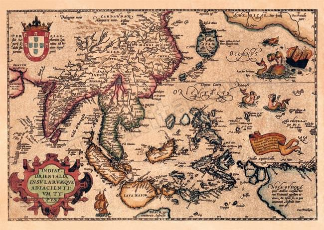 Tirakita Antique Map Poster Indiae Orientalis Prints Maps